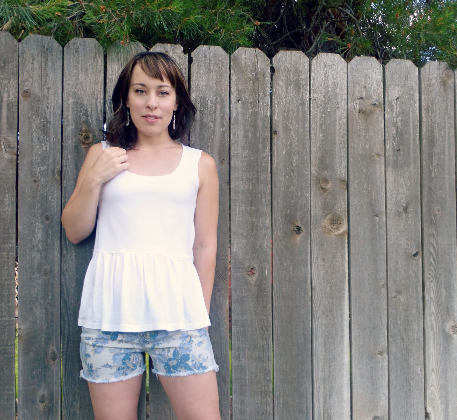 Anthropologie peplum tank knock off sewing tutorial