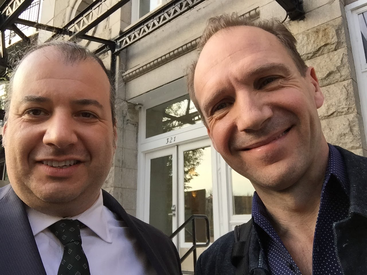 Danya Polykov and Ralph Fiennes, NYC, 03/2016