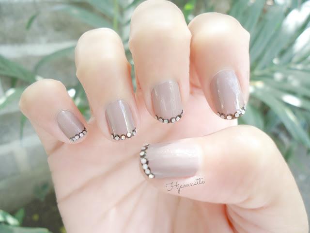 nail art, NOTD, french manicure, polka dot, polka dot nail art, glitter nail art, bling