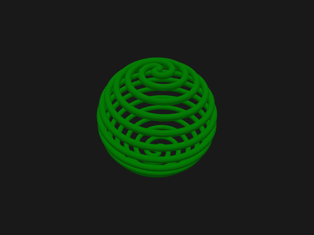 A Spherical Double-Spiral.