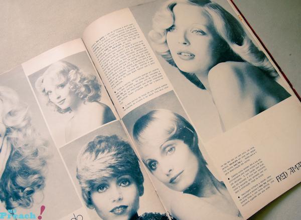 revista de moda antiga anos 70 - seleção de penteados
