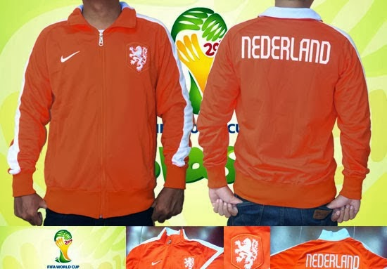 Jaket GO Belanda Orange World Cup 2014