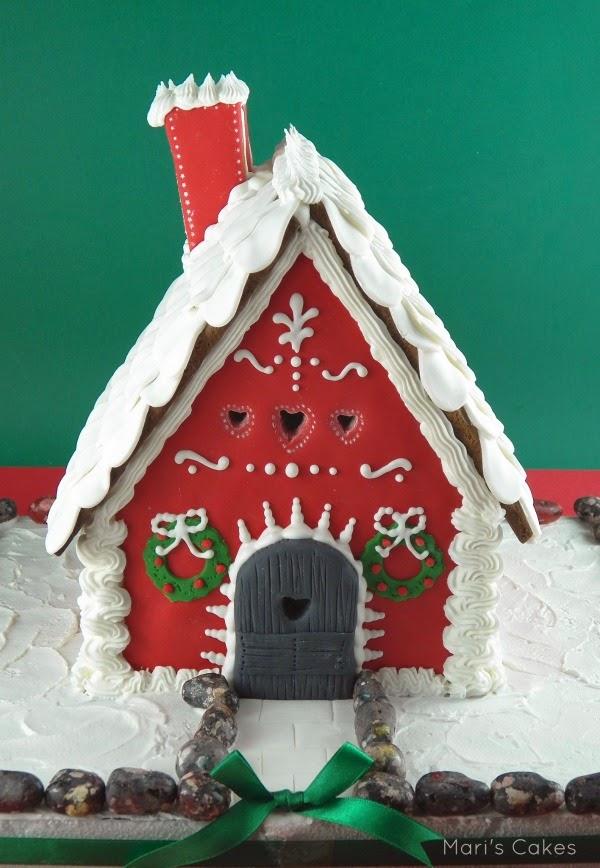 La casita de jengibre y feliz navidad mari 39 s cakes - Casitas de navidad ...