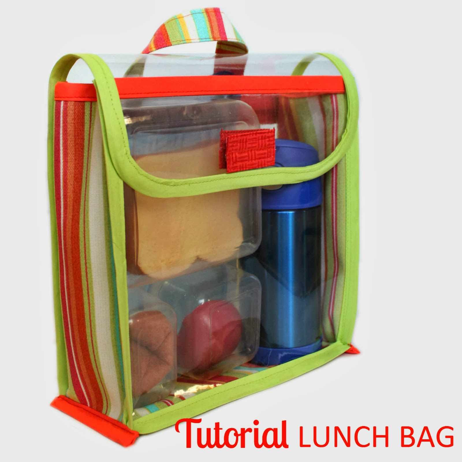 Tutorial: Vinyl Lunch Bag | Learn how to sew a simple to open, clear vinyl lunch bag. | The Inspired Wren