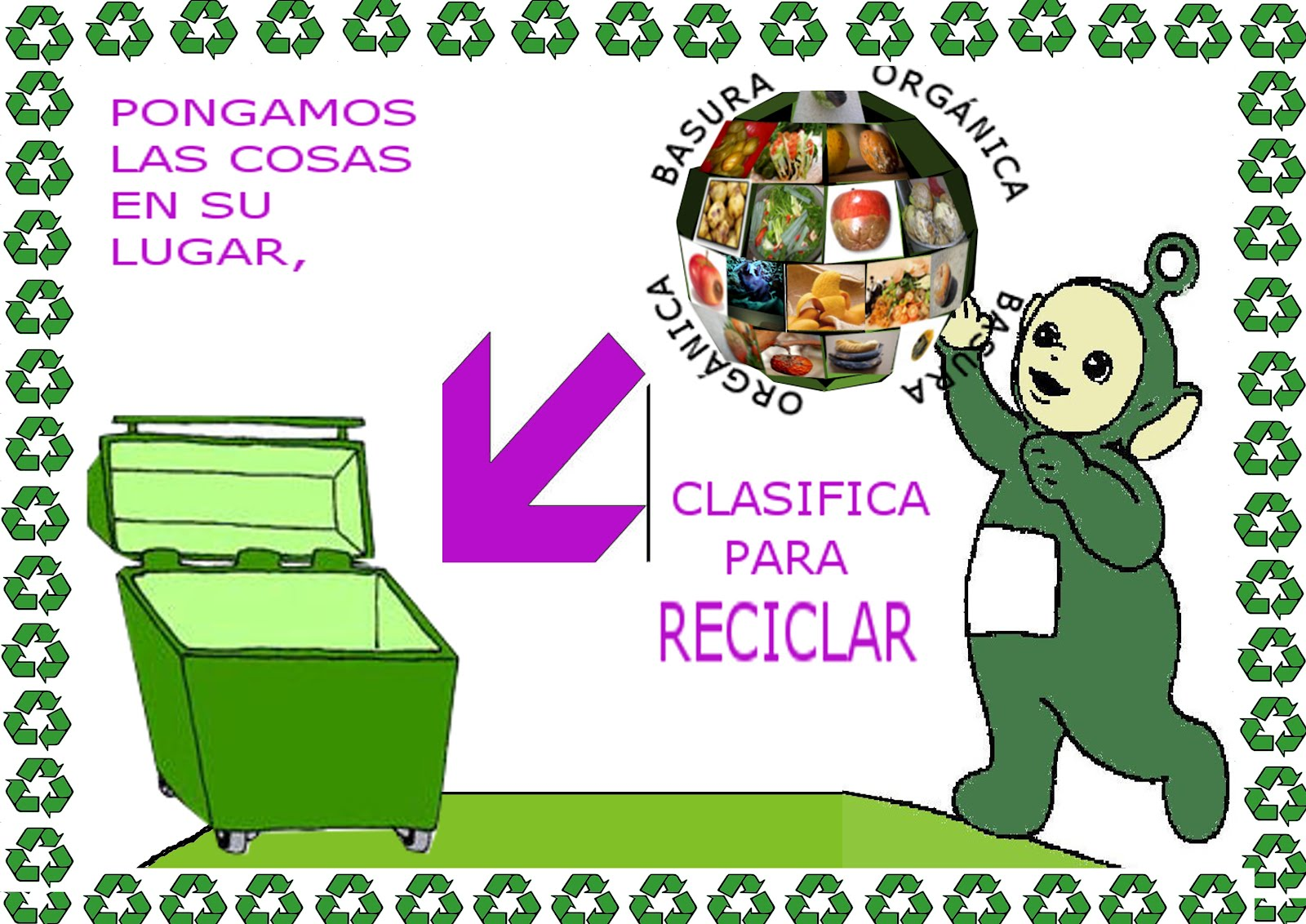 Cartel hecho de cosas de reciclaje inform 225 tica en - Cosas de reciclaje ...