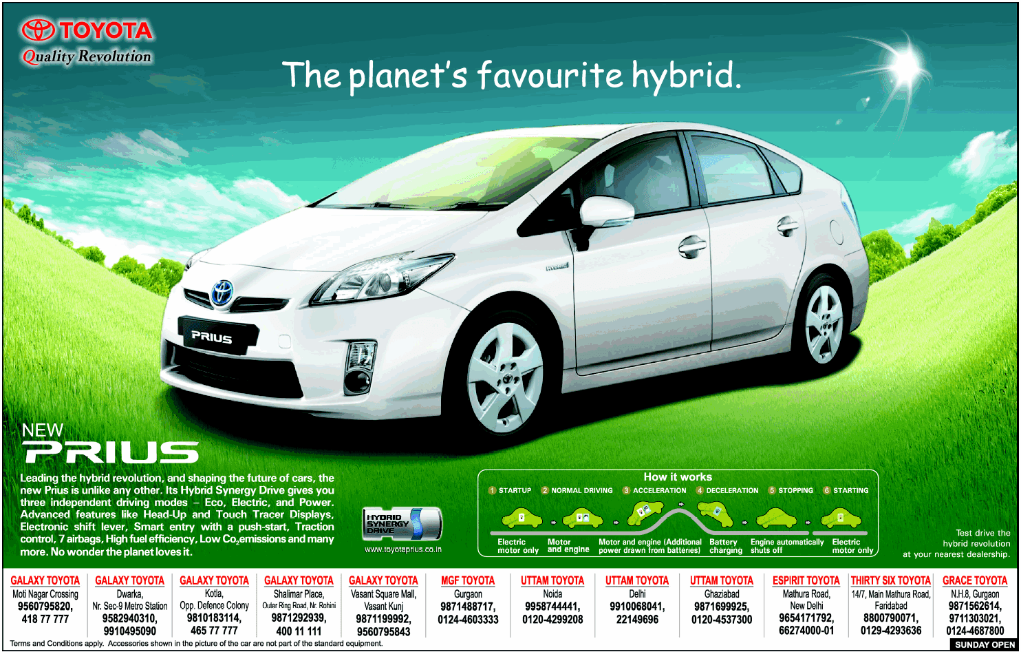 Print Ads Toyota Prius Ad The Planet S Favourite Hybrid