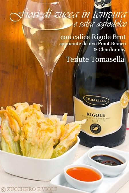 fiori di zucca in tempura con salsa agrodolce
