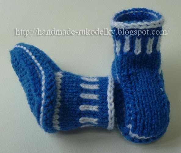MY HAND MADE STUFF - MOJE RUKODELKY: Simple Knitted Booties/Slippers For Baby...