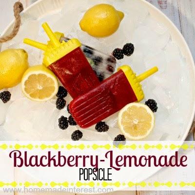 Blackberry Lemonade Popsicles from Home.Made.Interest