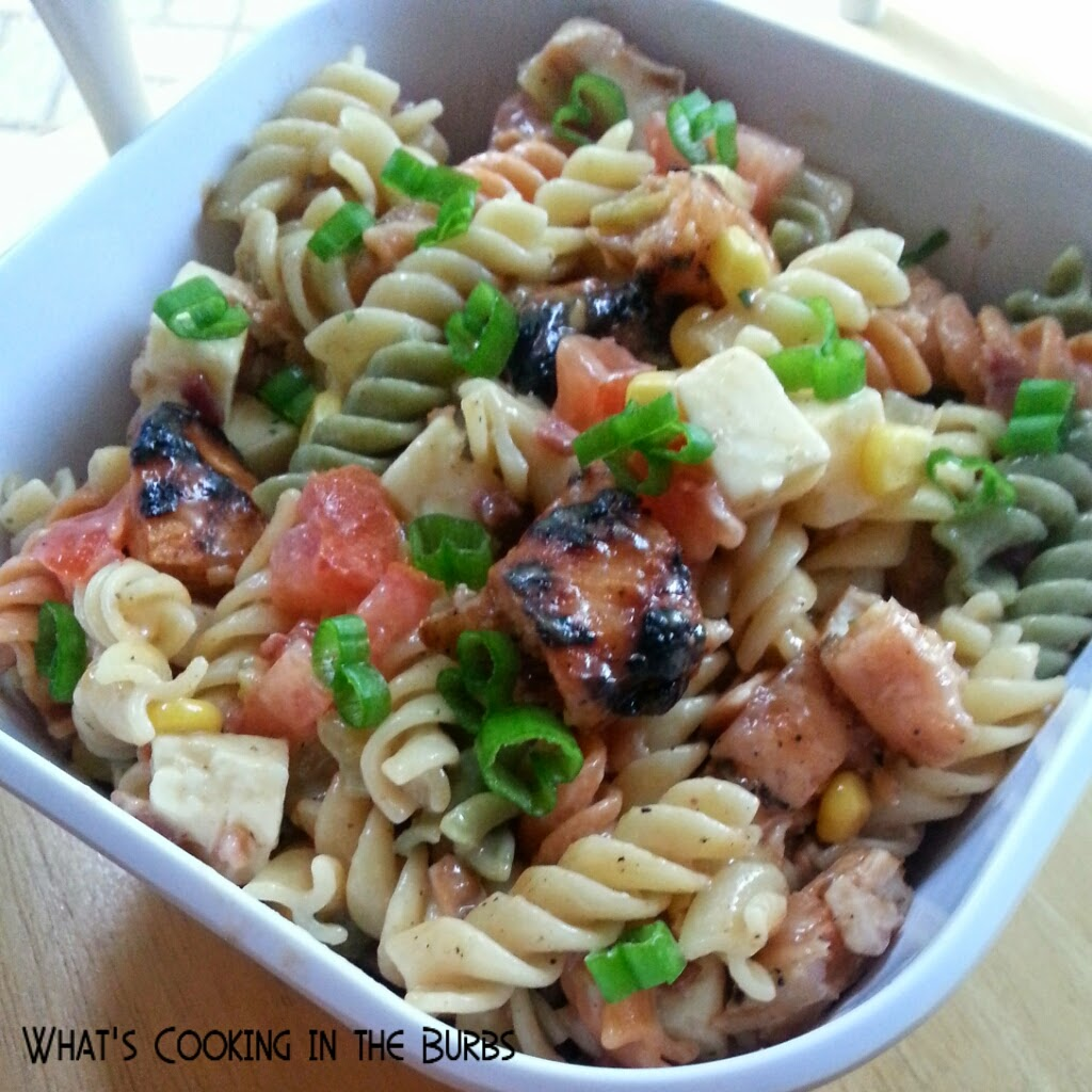 bbq chicken ranch club pasta salad