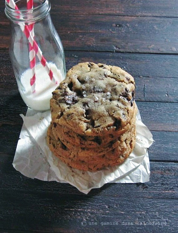 ginger + brown butter chocolate chunk cookies :: une gamine dans la cuisine