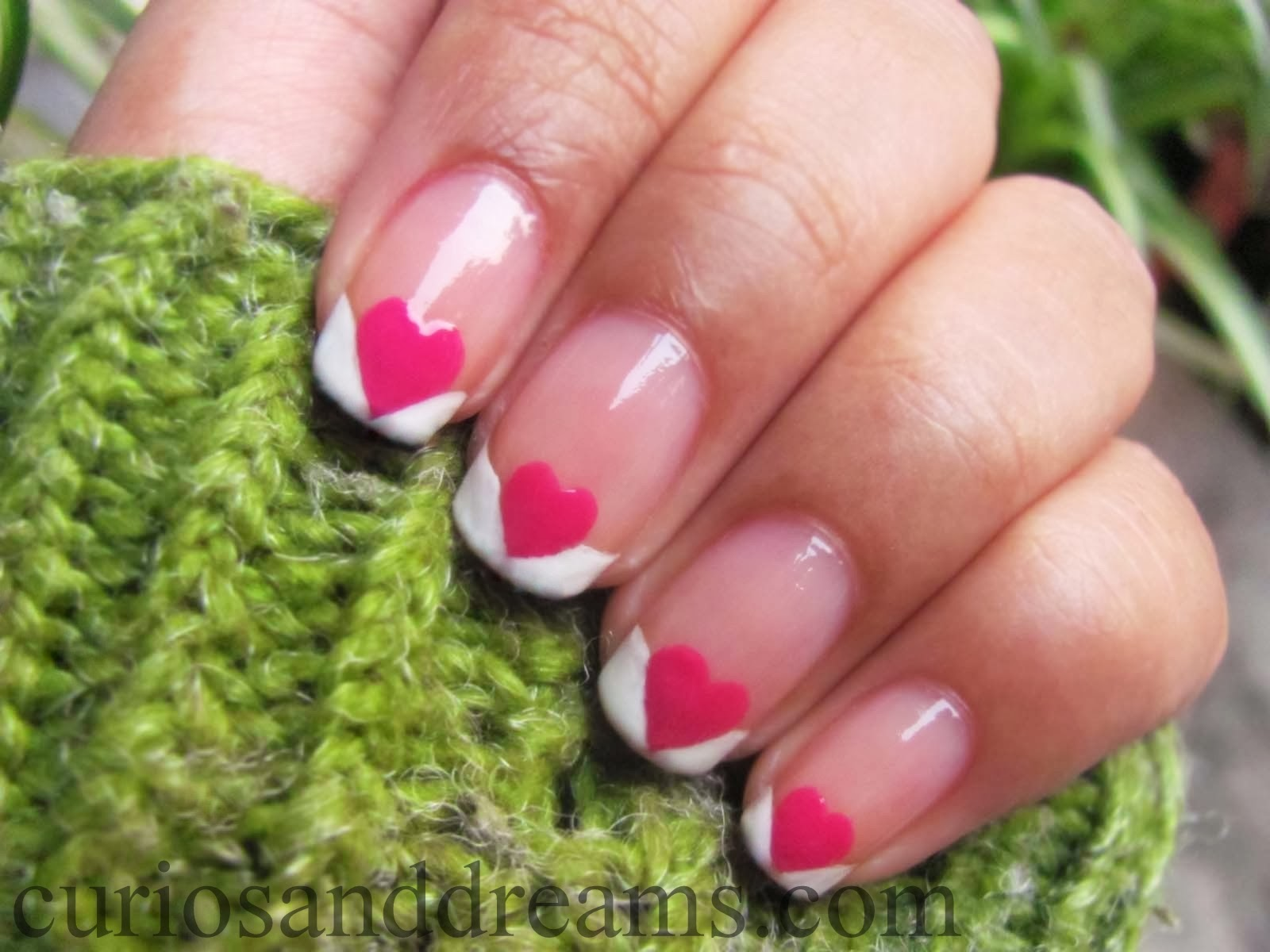 Valentines day manicure, Valentines day nail art, Valentines day nailart tutorial, Valentines day nailart design, French manicure