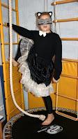 костюм для девочки кошечка с пышной юбкой и маской