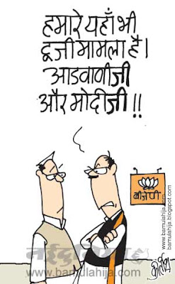 bjp, bjp cartoon, narendra modi cartoon, election 2014 cartoons, lal krishna advani cartoon, 2 g spectrum scam cartoon