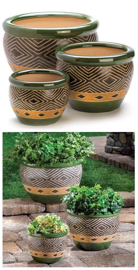 Beautiful ceramic jade garden planters for Beautiful planters