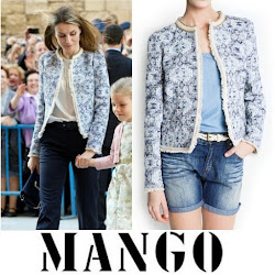 Queen Letizia Style - MANGO Coat HUGO BOSS Trousers