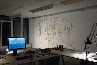 Richard Müller: Atelier Berlin Wandmalerei