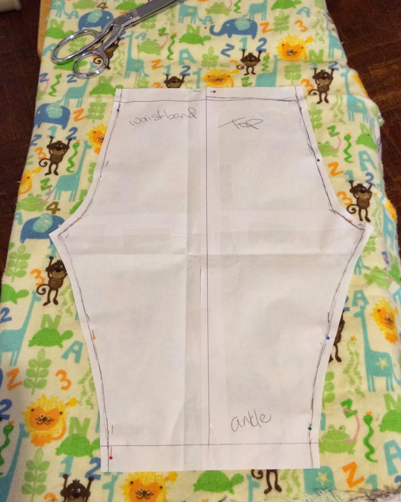 DIY Toddler Flannel Pajama Pants #Tutorial