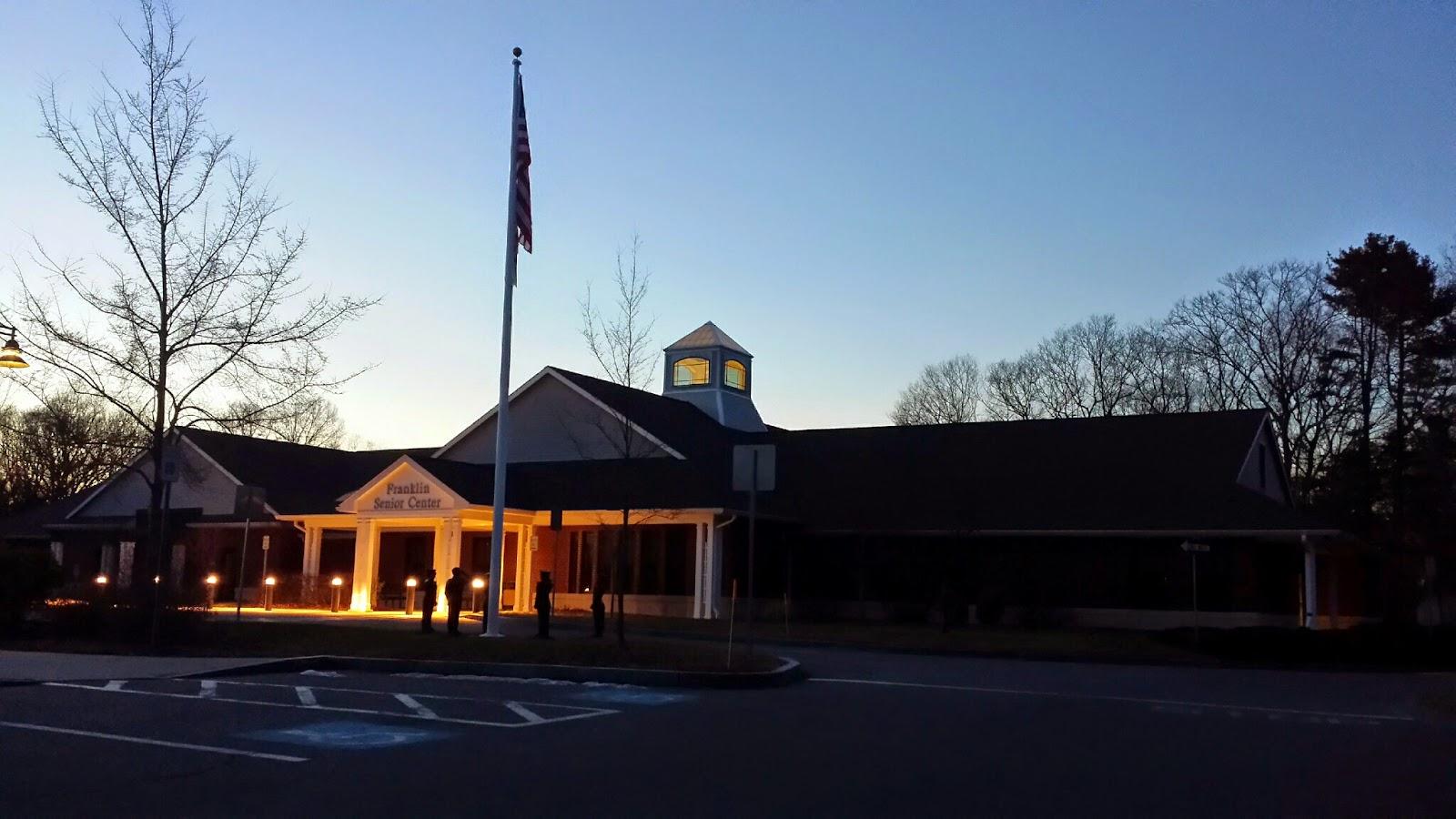the Franklin Senior Center at night