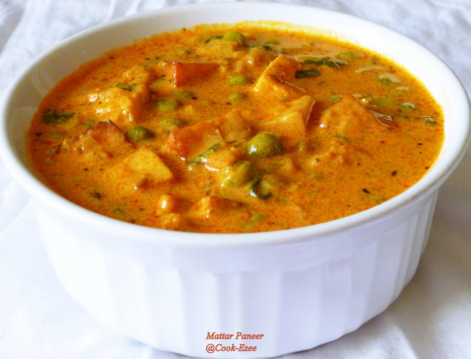 Cook Ezee Mattar Paneer Masala Green Peas Cottage Cheese