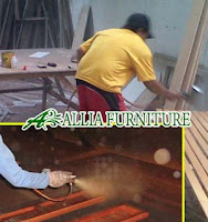 Proses Finishing Furniture Melamine Warna Dasar