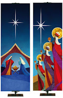 Church Banners for Christmas Silent Scenes of Christmas