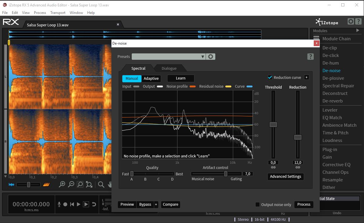 Recursos Para Djs Izotope Rx 5 Audio Editor Editor De