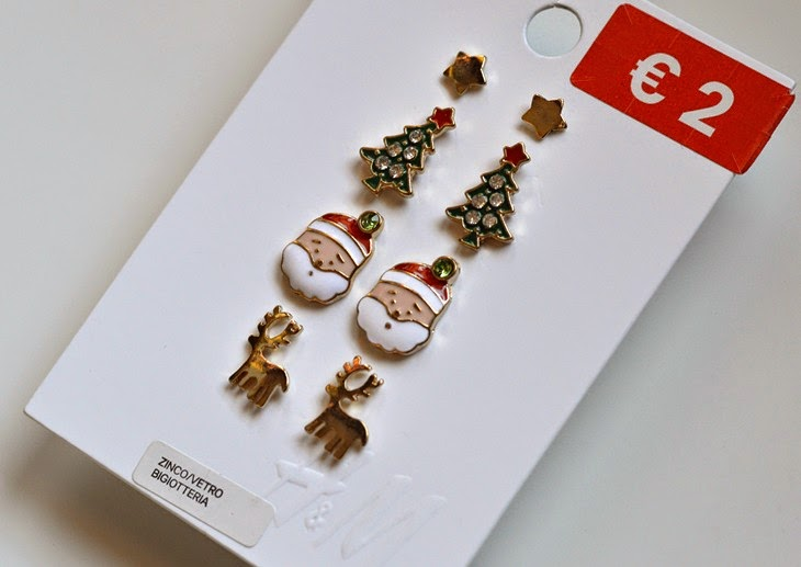 Saldi Inverno Gennaio 2015 Sale Finds Set Orecchini Natale H&M Christmas Santa Claus Earrings TheSparklingCinnamon