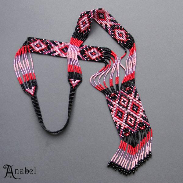 купить красивый гердан из бисера, подарок девушке, женщине украина