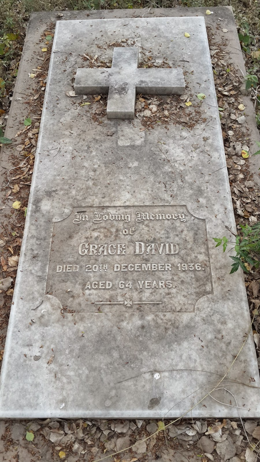 Guava Gardens Grace David 64 Years Died 1936