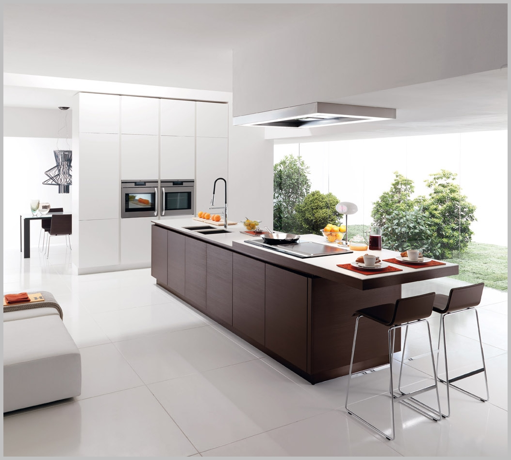 Modern minimalist kitchen design classic elegance - Modern kitchen with island ...