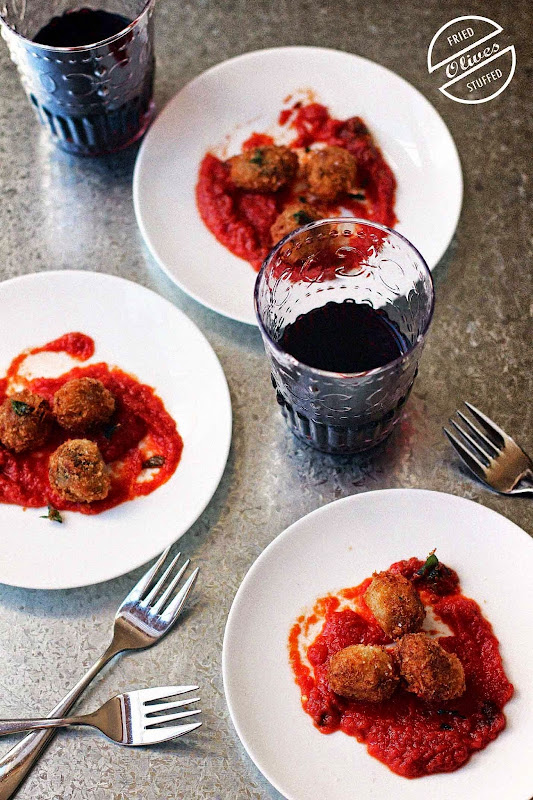 Milk and Honey: Fried Stuffed Olives
