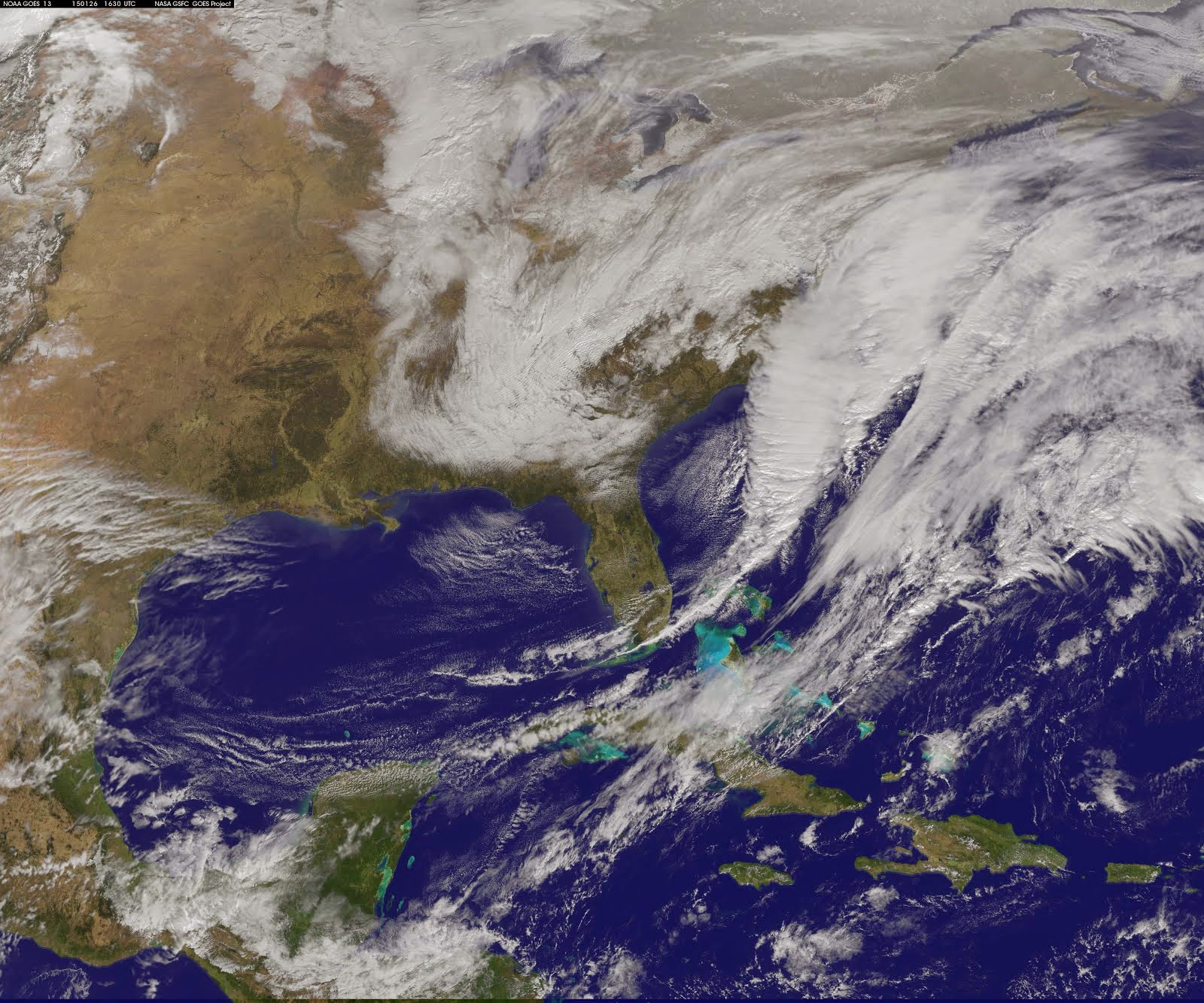 NOAA'S GOES-EAST SATELLITE'S IMAGE OF NOR'EASTER