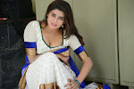 Harini in Spicy White Saree   Pichekkista Actress Harini