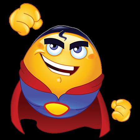 Image result for animated emoji superhero