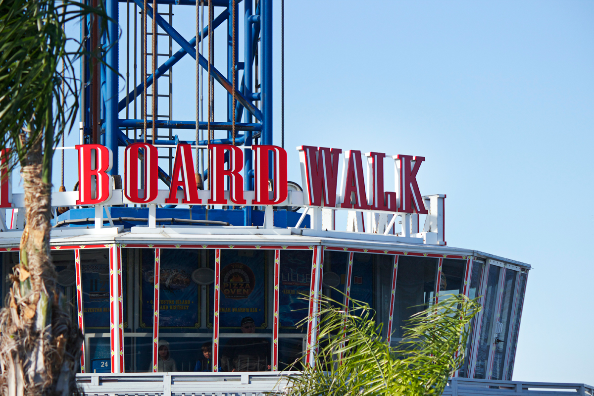 kemah boardwalk sign