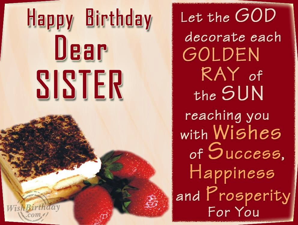 Birthday Wishes Elder Sister   Birthday Wishes