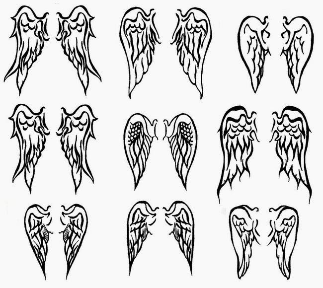 Dibawah ini desain tattoo sayap malaikat atau Angel wing Tatto :