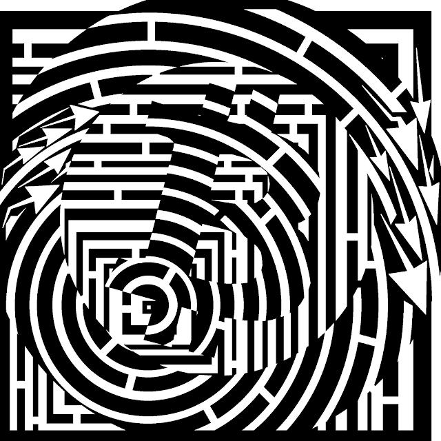 Maze of a bitcoin symbol