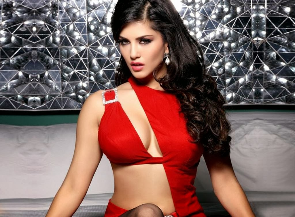Sensational Sunny Leone Red Dress