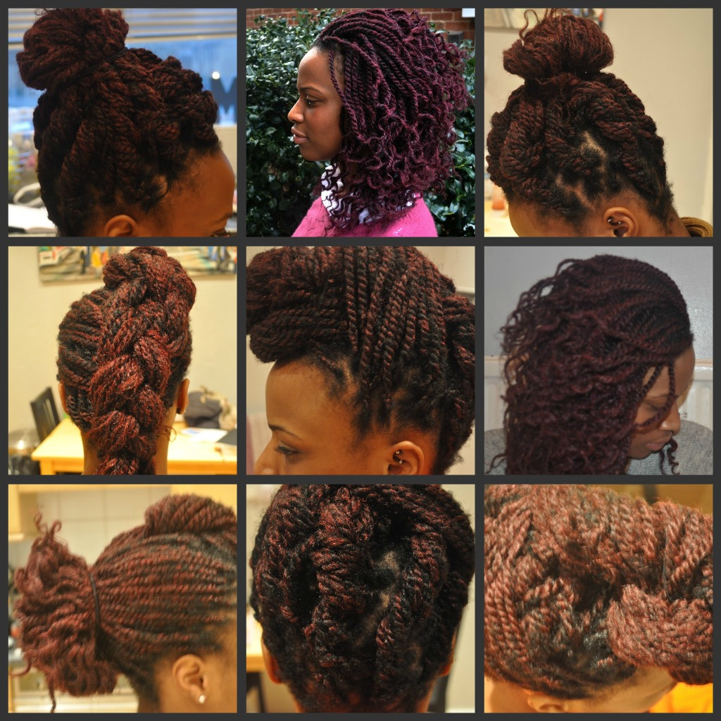 Here is her K inky Twist Regimen: title=