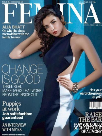 Alia Bhatt Featured On The Cover Of Femina India