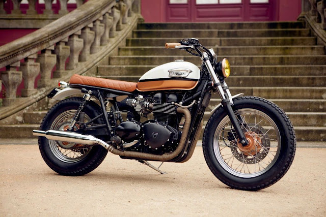 Racing caf triumph bonneville urban pearl by ton up garage - Garage peugeot bonneville ...