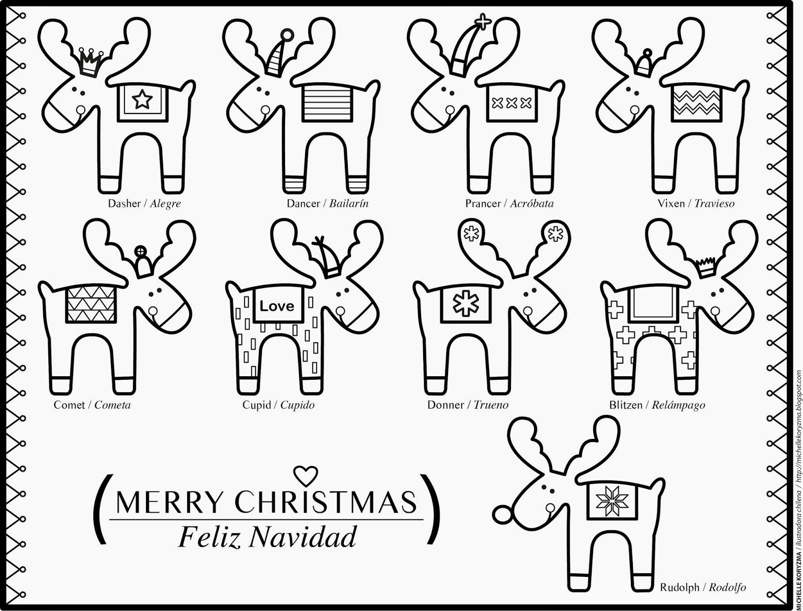 imagenes para colorear de navidad en familia