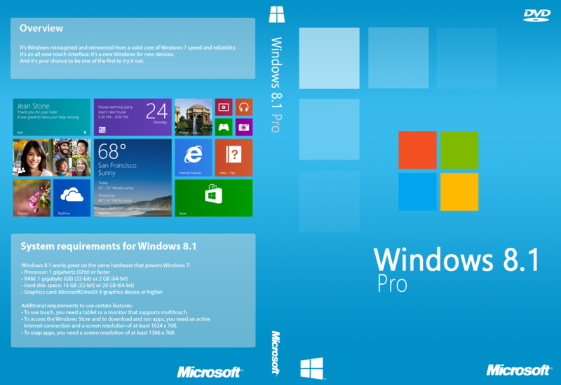 Windows 8.1 Professional VL with Update (x86 & x64) - DVD (English)