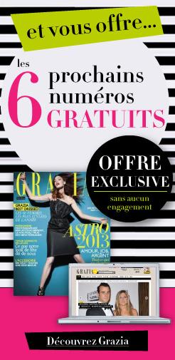 6 numéros de l'édition numérique GRAZIA gratuits
