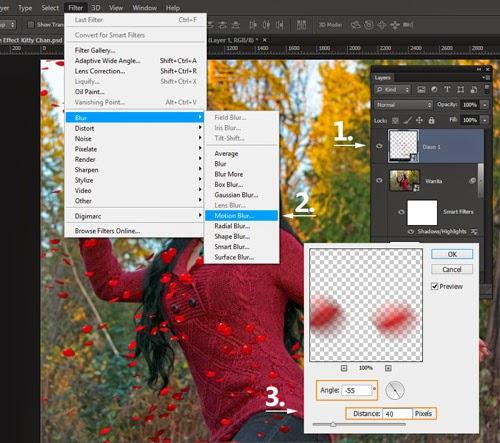 Langkah 5.1 Cara Menambahkan Motion Blur pada Foto di Photoshop CS6