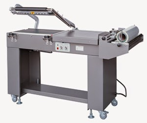 pneumatic L bar film sealing cutting shrinkaging packing machine box film sealer shrink machine