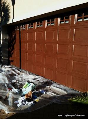 painting a metal garage door