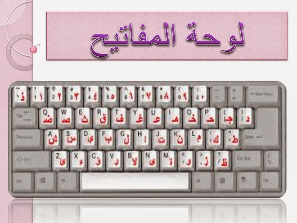 u0623u0648u0631u0627u0642 u0639u0645u0644 : u0627u0644u062du0627u0633u0628 (u0644u0648u062du0629 u0627u0644u0645u0641u0627u062au064au062d keyboard)